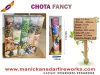 Chota Fancy (1pce) - Small Multicolour Aerial Shot
