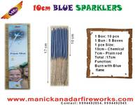 10cm Blue Sparklers