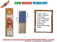 10cm Orange Sparklers