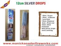 12cm Silver Drops Sparklers