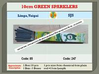 10cm Green Sparklers