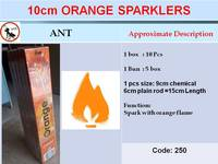 10cm Orange Sparklers