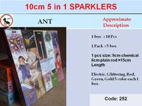 10cm 5 in 1 Sparklers (5 boxes)