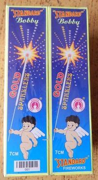 7cm Gold Sparklers