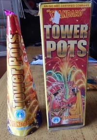 Tower Pots Gold (1pce) - Mega Fountain