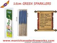 15cm Green Sparklers